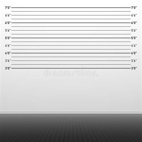 Police Lineup Background Stock Vector. Illustration Of