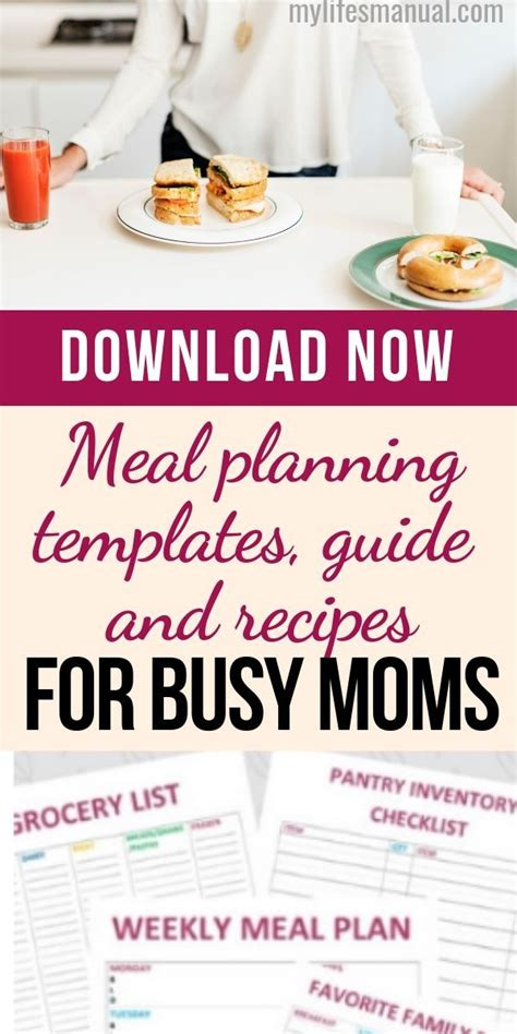 Read several good ideas to make it easier! Meal Planning Binder and Beginners Guide for Busy Moms ...