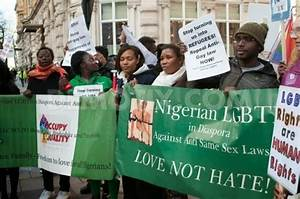 Photos: Nigerian gay activists protest at Nigerian Embassy ...