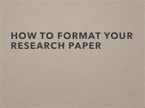 how to format research paper how to format your research paper alagarcjhs