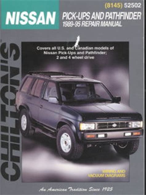 auto repair manual free download 1995 nissan pathfinder security system chilton nissan pick ups and pathfinder 1989 1995 repair manual