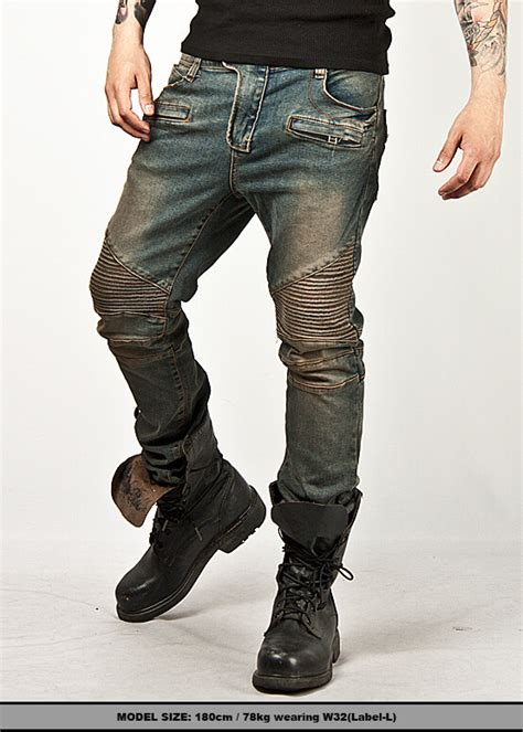 New Mens Fashion Bottom Washed Toughchic Blue Designer
