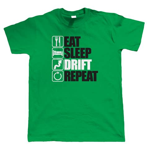 eat sleep drift repeat mens drifting t shirt jdm drift car s14 s15 ae86 bdc ebay