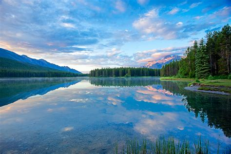 jack lake  photo  alberta prairies trekearth