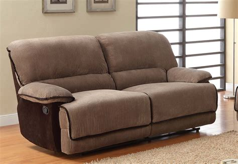 Dual Reclining Sofa Covers by Homelegance Grantham Sofa Dual Recliner Brown Corduroy
