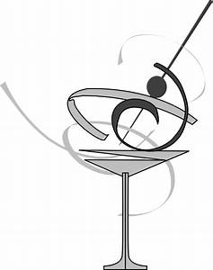 Black And White Martini Glass Edited Clip Art at Clker.com ...