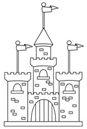 cartoon castle step  step drawing lesson
