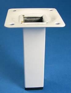 Serrurier Le Cannet : pied de meuble m tal carr 25 mm laqu blanc h 700 mm ~ Premium-room.com Idées de Décoration