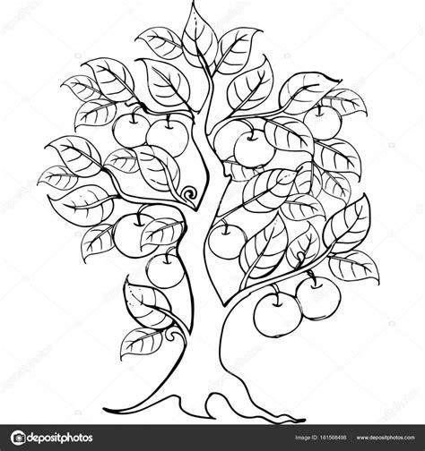 Kleurplaten Appelboom by Handen Appelboom Tekening Voor De Anti Stress Kleurplaat