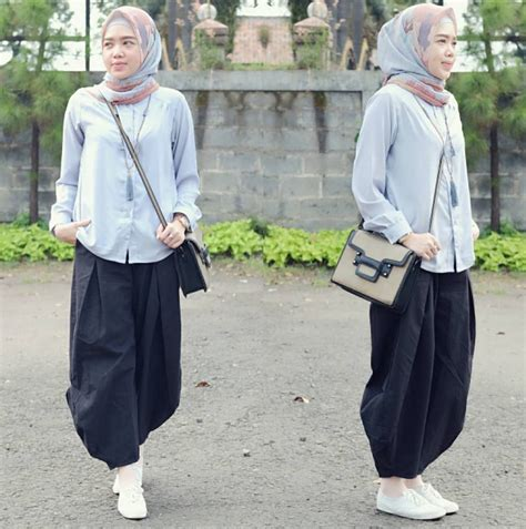 fashion hijab jaket jeans mom hijab
