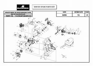 Mcculloch 3200 Chainsaw Fuel Line Diagram
