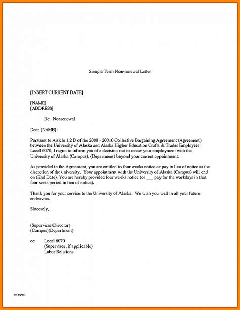 tenant renewal letter resignation letter not resigning lease letter unique no