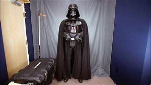 Putting on a movie accurate Darth Vader suit - YouTube