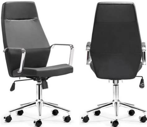 zuo modern 205145 holt high back office chair black pu