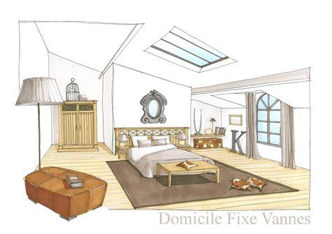 comment dessiner une chambre en perspective architecte d 39 intérieur vannes morbihan bretagne gt df