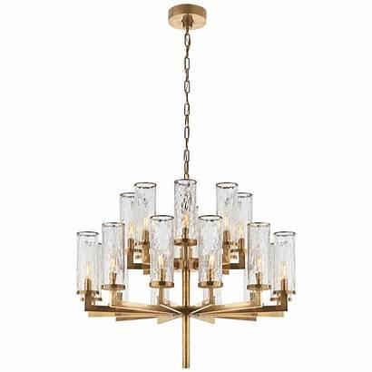 Chandelier Double Tier Liaison Lighting Brass Kelly