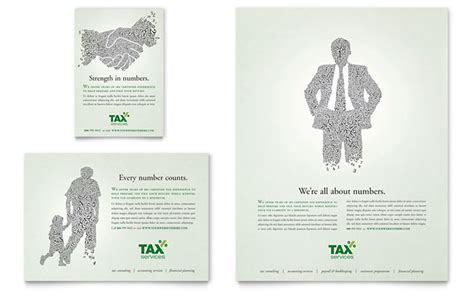 accounting tax services flyer ad template design