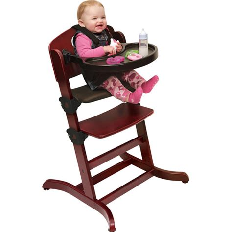 badger basket evolve convertible wood high chair with