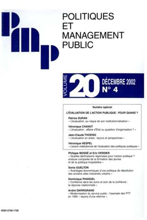 l avenir institutionnel de l 233 valuation des politiques publiques pers 233 e