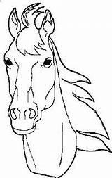 Horse Coloring Head Sheets Cowboy Riding Face sketch template