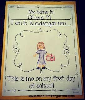 day of school day of school activities pre k 988 | first day writing