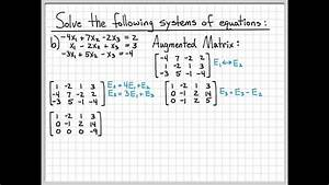 Linear Algebra Example Problems - Solving Systems of ...