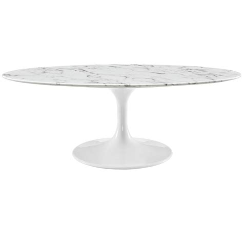 faux marble table l lippa 48 quot oval shaped faux marble coffee table w metal