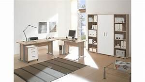 Büro Set Möbel : arbeitszimmer b ro office line sonoma eiche und wei ~ Indierocktalk.com Haus und Dekorationen