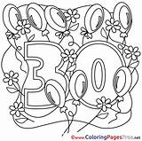 Birthday Happy Colouring Coloring Pages Sheets Sheet Title sketch template