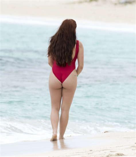 ariel winter swimsuit ariel winter in red swimsuit 2016 05 gotceleb