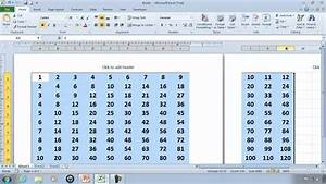 Excel Timetable Excel 2010 Tutorial 3 Times Table Autofill Example
