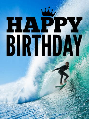 catch  wave happy birthday card birthday greeting