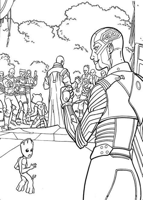 guardians   galaxy coloring pages