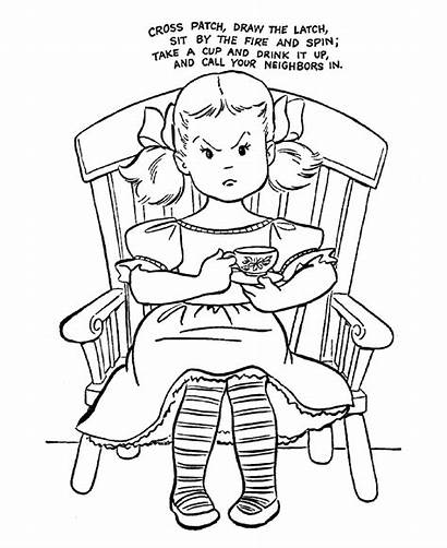 Nursery Rhymes Rhyme Coloring Pages Cross Patch