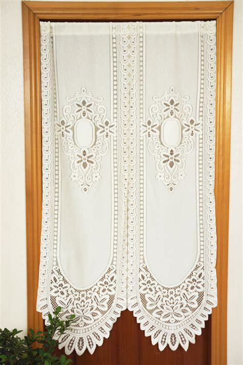 lace curtains white cafe bedroom kitchen decorative