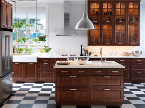 Ikea Espresso Kitchen Cabinets by Marvelous Brown Polished Cool Ikea Kitchen Cabinets