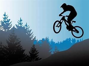 Free, Vector, Mountain, Bike, Illustration