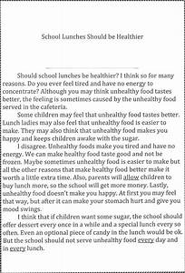 School Lunch Essay Our Future Essay School Lunch Essay Titles Change  School Lunch Short Essay Sample