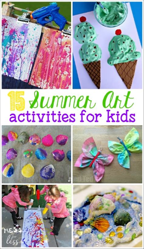 20 summer activities for preschoolers mess for less 414 | summer art activities for kids