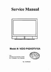 Vizio P42hdtv10a Sm Service Manual Download  Schematics