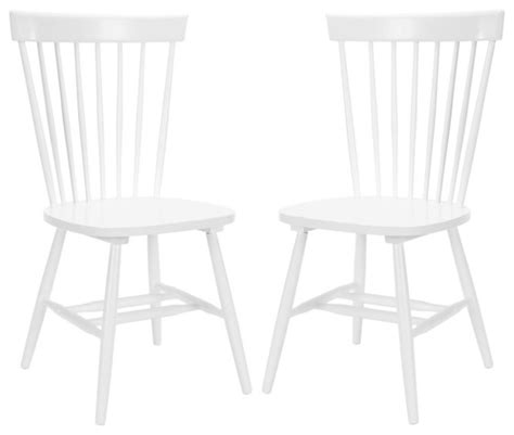 country lifestyle spindle back white dining chair set