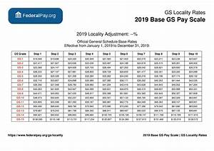 General Schedule Gs Base Pay Scale For 2019