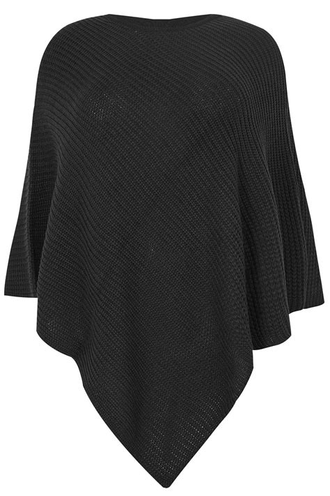 Date Post Jenny Template Responsive by Black Knitted Poncho Plus Size 16 To 32