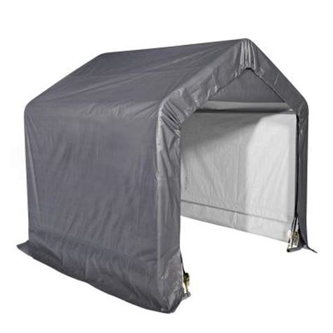 Shelterlogic Shed In A Box Home Depot by Shelterlogic Shed In A Box 6 Ft X 6 Ft X 6 Ft Grey Peak