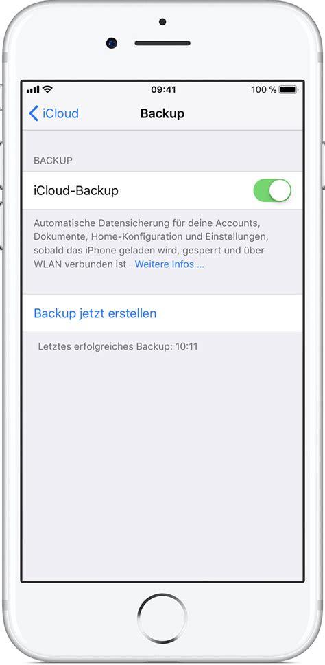 back up iphone ein backup eines iphone oder ipod touch erstellen