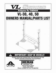 Thieman Vl Series Liftgate By The Liftgate Parts Co