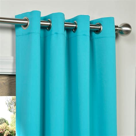 turquoise blue grommet blackout curtains drapes