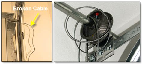 how to fix a garage door cable broken garage door cables garage door repair faq