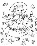 Coloring Pages Easter Spring sketch template