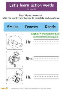 Kids Learning English Worksheets
